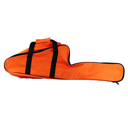Chainsaw Bag Carrying Case Portable Protection Waterproof Holder Fit for Stihl Husqvarna 12''/14''/16'' Chainsaw Storage Bag(Orange)