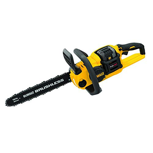 DeWalt 60-Volt MAX Lithium-Ion Cordless FLEXVOLT Brushless 16 Inch Chainsaw with 2.0Ah Battery and Charger Included