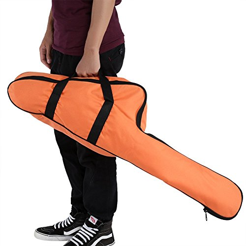 Estink Chain Saw Bag, Portable Orange Oxford Chainsaw Carrying Bag/Case Protective Storage Bags Holder