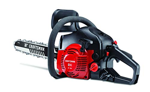 CRAFTSMAN 42cc-16 (2020 Model) S165 42cc Full Crank 2-Cycle Gas Chainsaw-16-Inch Bar and Automatic Chain Oiler-Carrying Case Included, Liberty Red