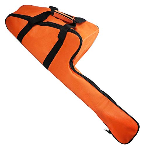 BeadChica Chainsaw Case Carrying Bag 16inch,Universal Chainsaw Storage Bag Compatible with Stihl/Ego/Crafsman/Husqvarna 12'',14'',16'' Chain Saws